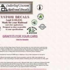 Cedarleaf  Custom Railroad Decals